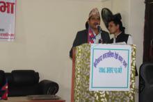 यस नगरपालिकाको तेस्रो नगर सभामा प्रवक्ता तथा नगर सभा सदस्य श्री कृष्णराज पाध्या नगर सभामा स्वागत मन्तव्य राख्नुहुदै ।
